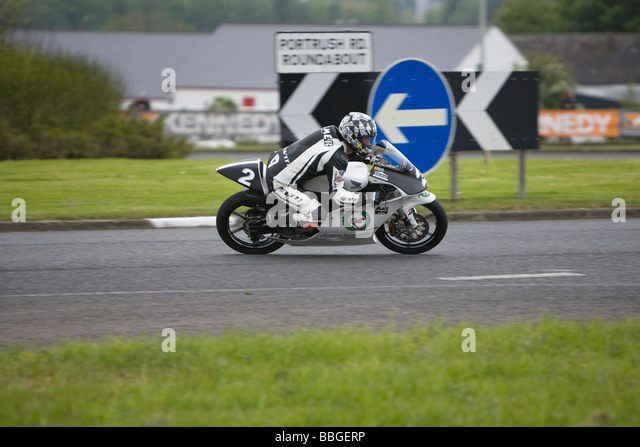 John McGuinness Superbike North West 200 - Stock Image