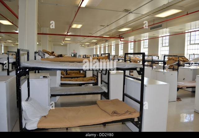 Inmate living quarters. - Stock Image