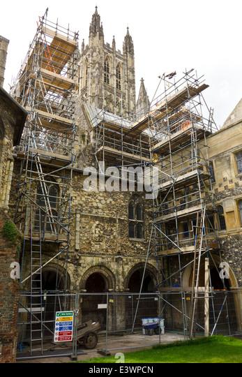 England Cathedral Scaffolding Stock Photos Amp England