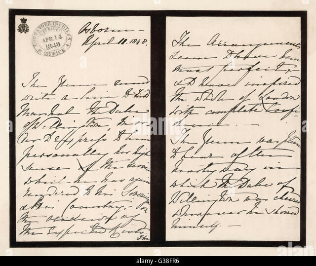 handwriting letter stock photos handwriting letter stock images alamy. Black Bedroom Furniture Sets. Home Design Ideas