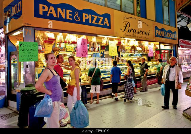 Europe Italy Piedmont Turin Piazza della Repubblica The popular Market of Porta Palazzo Covered food market - Stock Image