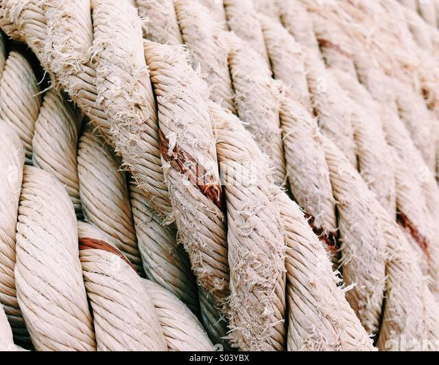 Rope close up - Stock Image