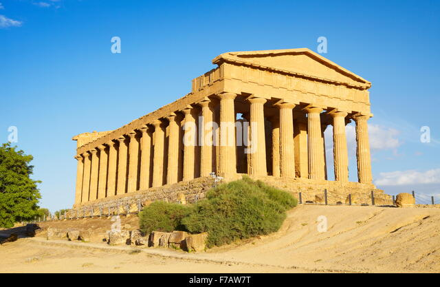 Agrigento Temple of Concordia, Valley of Temples (Valle dei Templi), Agrigento, Sicily, Italy UNESCO - Stock Image