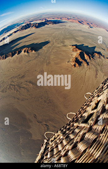 Aerial view from hot air balloon over the Namib desert Property Released Namib Naukluft Park Namibia - Stock-Bilder