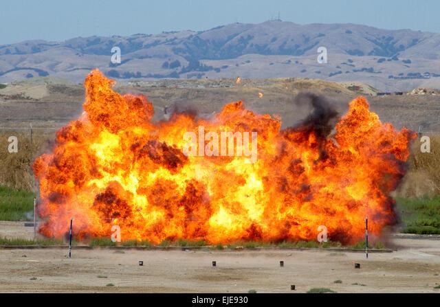 Bomb Explosion - Stock Image