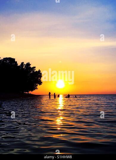 Sunset reflection - Stock Image
