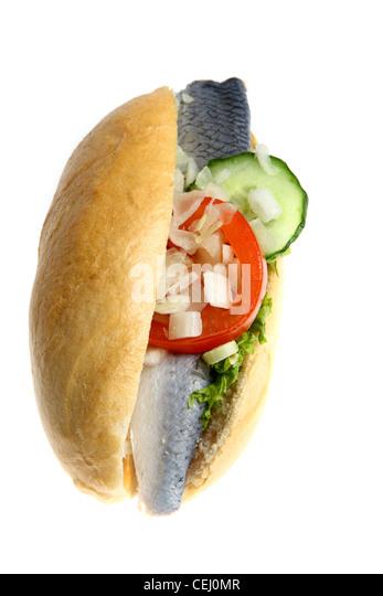 Herring sandwich stock photos herring sandwich stock for Fast food fish sandwich