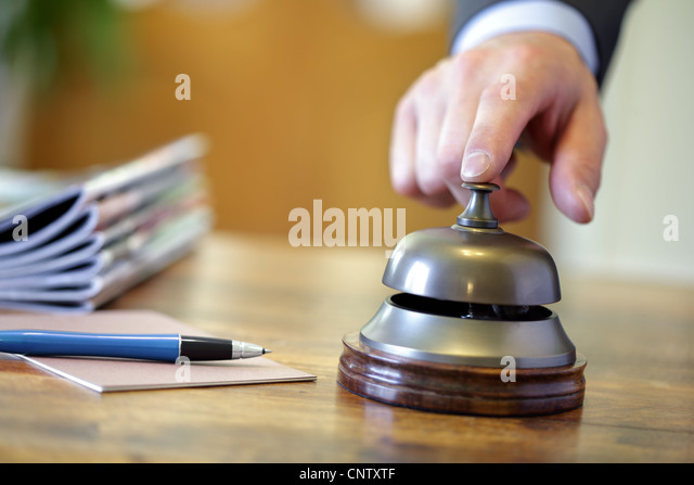Hotel service bell - Stock Image