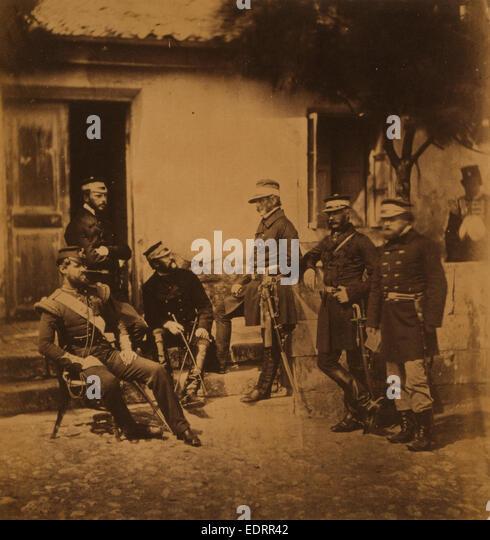 Major General Estcourt, Adj.-Gen. Major De Morel, Captain Thompson, Lieutenant-Colonel Blane, Major Kirkland - Stock Image