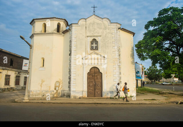 City of Sao Tome, Sao Tome and Principe, Atlantic Ocean, Africa - Stock Image