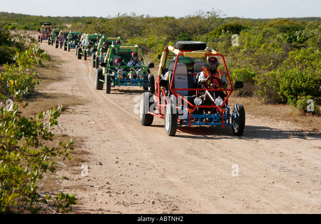 Grand Turk Hawknest Plantation dune buggy excursion tour - Stock Image
