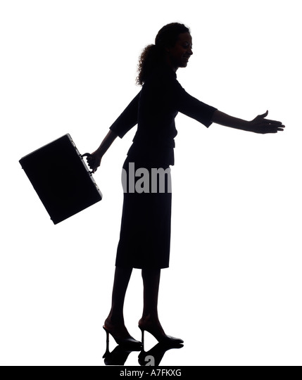 Business woman silhouette - Stock Image