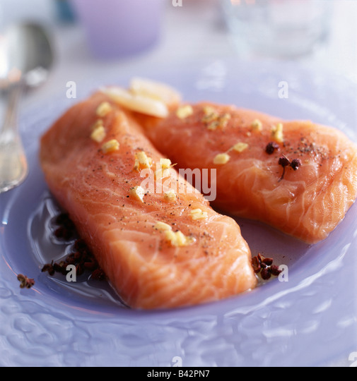 Salmon fillets - Stock Image