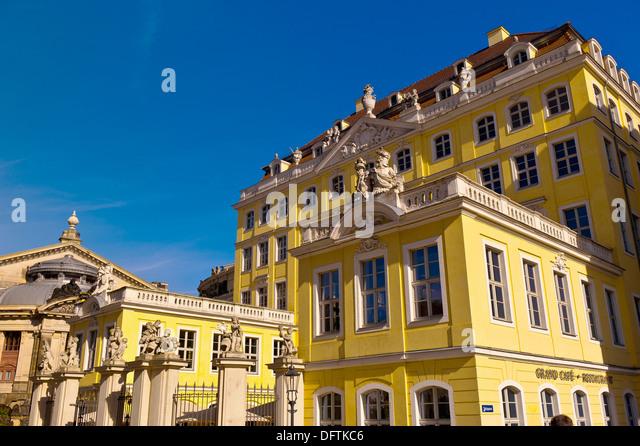Baroque architecture, Neumarkt, Dresden, Saxony, Germany - Stock-Bilder