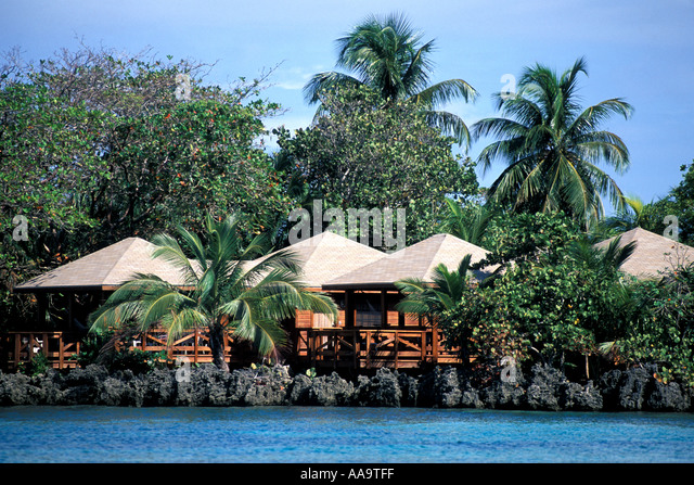 Honduras Bay Islands Roatan Villas at Anthony's Key Resort - Stock Image