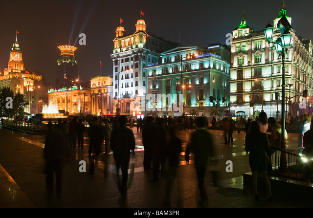 The bund shanghai - Stock Image