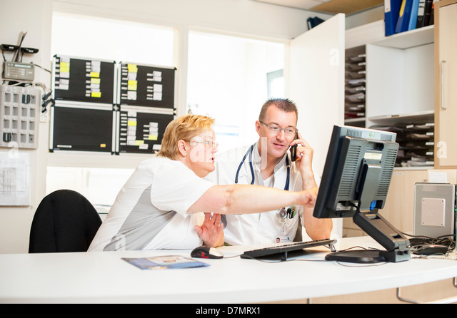 Hospital nurses - Stock Image