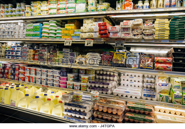 Miami Coconut Grove Florida The Fresh Market chain retail gourmet supermarket specialty grocer shopping refrigerator - Stock Image