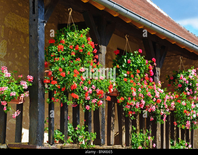 Planters france stock photos planters france stock - Hanging baskets for balcony ...