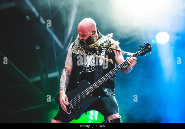 Clisson, France. 18th June, 2017. Five Finger Death Punch performing live at the Hellfest Festival 2017 with their - Stock Image