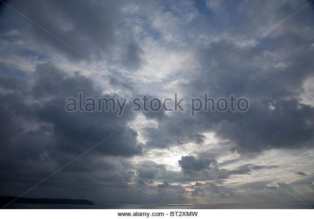 A dark moody sky - Stock Image