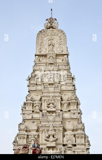 Hindu temple Sri Kamadchi, Hamm, Germany - Stock Image