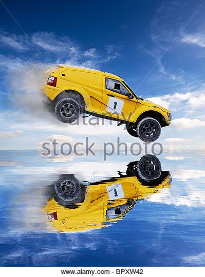 rally car - Stock Image