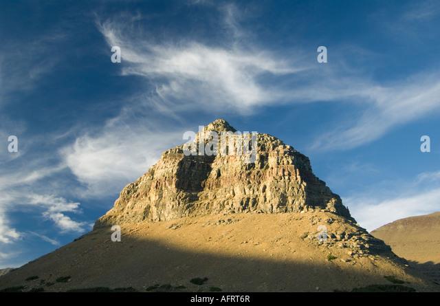 Peak above Logan Pass, Glacier National Park, Montana USA - Stock Image
