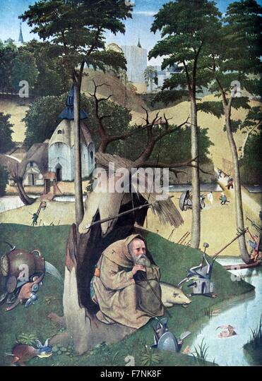 Detail from the 'The Garden of Earthly Delights' triptych painted by the Early Netherlandish master Hieronymus - Stock Image