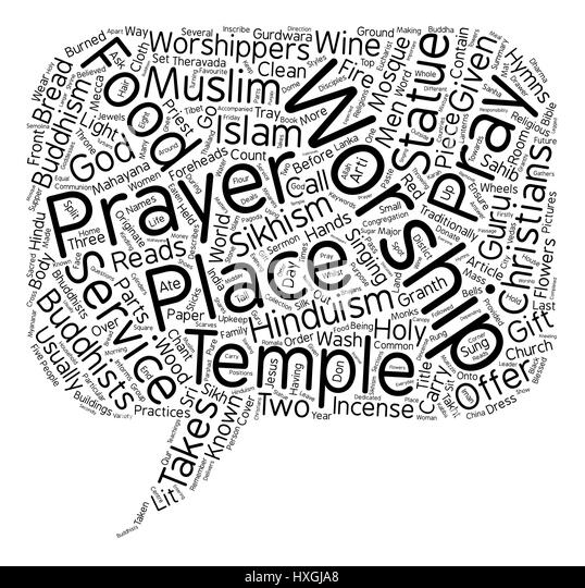Other Religions Practices Sacred Texts: Hinduism Word Cloud Concept Stock Photos & Hinduism Word