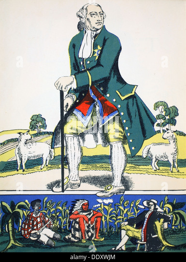 George III, King of Great Britain and Ireland from 1760, (1932). Artist: Rosalind Thornycroft - Stock Image