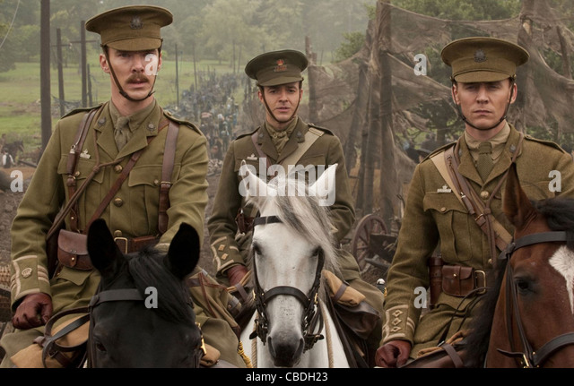 WAR HORSE  2011 DreamWorks film directed by Steven Spielberg with from l: Benedict Cumberbatch, Patrick Kennedy, - Stock-Bilder
