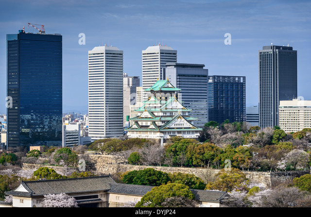 Osaka, Japan at Osaka Castle. - Stock Image