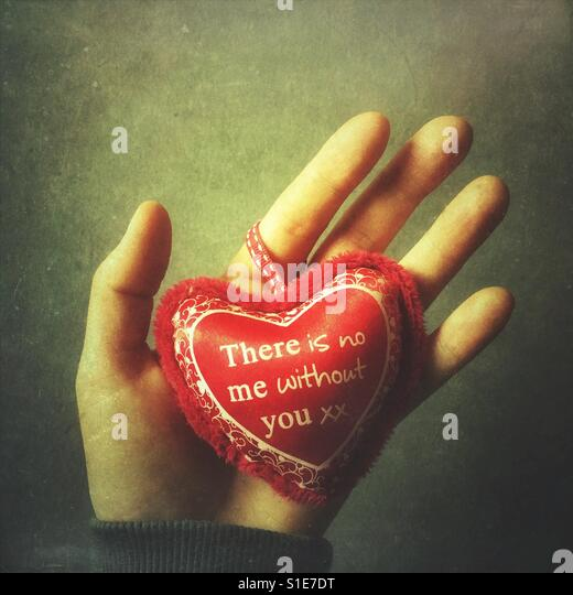 There is no me without you, Valentine's Day concept - Stock-Bilder