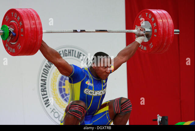 Wroclaw, Poland. 27th Oct, 2013. Jorge David Arroyo Valdez (ECU) during Men's 105 KG Group A Final at 2013 IWF - Stock Image