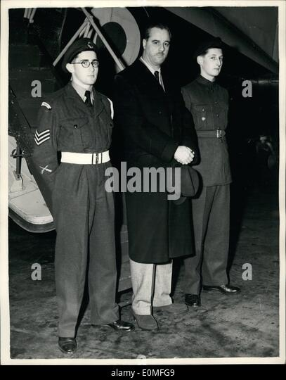 Dec. 12, 1954 - Air Cadets Fly With The Under Secretary Of State For Air: When Mr. George Ward, M.P. Under secretary - Stock Image