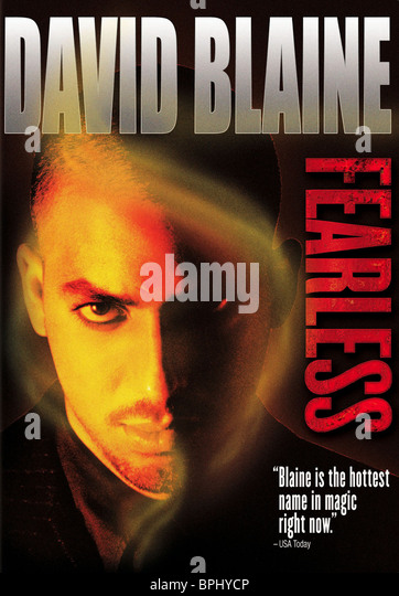 DAVID BLAINE DAVID BLAINE : FEARLESS (2002) - Stock Image
