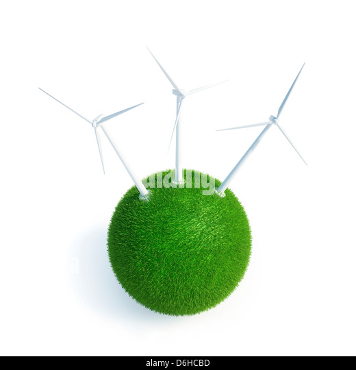 Green energy, conceptual artwork - Stock Image