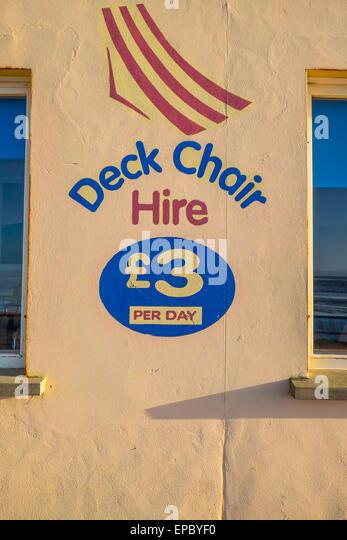 Deck Chair Beach England Stock Photos Amp Deck Chair Beach