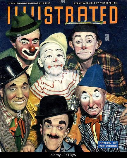 1940s UK Illustrated Magazine Cover - Stock Image