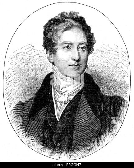 Robert Peel (Bury, 1788-London, 1850). British Conservative statesman who served as Prime Minister of the United - Stock Image