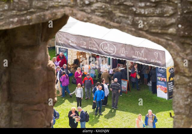 Ludlow 2017 Food Festival. - Stock Image