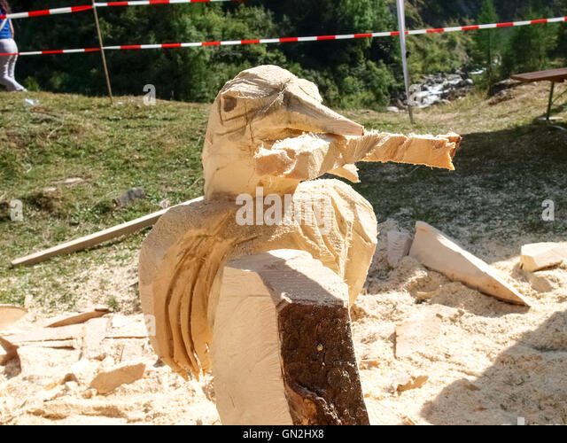 Logger statue stock photos images