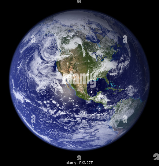 EARTH viewed from space, with North America visible. - Stock Image