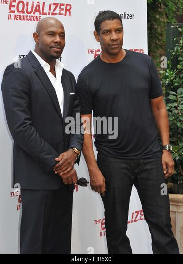 Rome photocall for the 'The Equalizer' at Hotel De Russie  Featuring: Antoine Fuqua,Denzel Washington Where: - Stock-Bilder