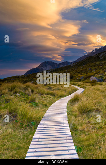 Aoraki Mount Cook National Park, South Island, New Zealand - Stock Image