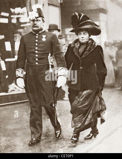 David Lloyd George, 1st Earl Lloyd-George of Dwyfor, 1863 – 1945, with his first wife Dame Margaret Lloyd George,1866 - Stock Image