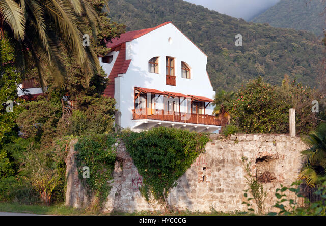 Old house, Old Gagra, Abkhazia, August 30, 2016 - Stock Image