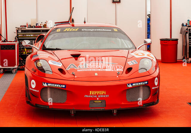 Risi Racing #62, Ferrari F430, GT2 class, sponsored by AdShip, at the 2009 American Le Mans Series race in St Petersburg, - Stock Image