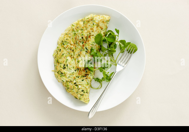 courgette omelet omlette - Stock Image